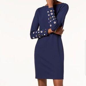 Michael Kors true navy embellished dress XS